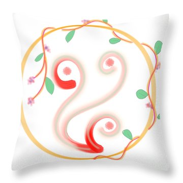 Creeper In A Circle Throw Pillow