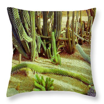 Throw Pillow featuring the photograph Sreading Cactus by Merton Allen