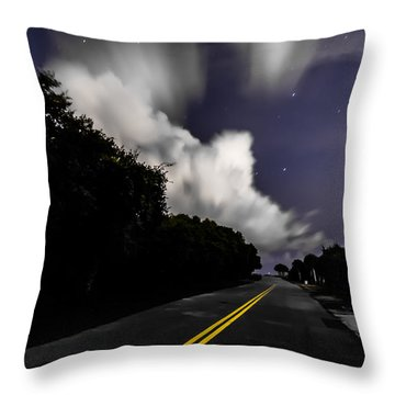 Creeping Clouds Throw Pillow