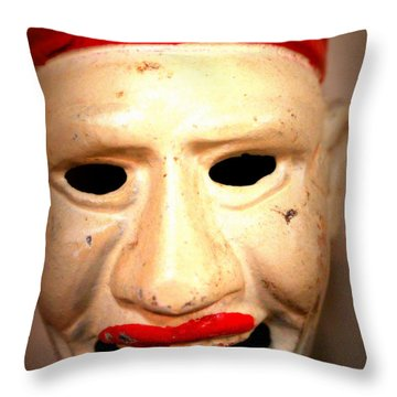 Throw Pillow featuring the photograph Creepy Clown by Lynn Sprowl
