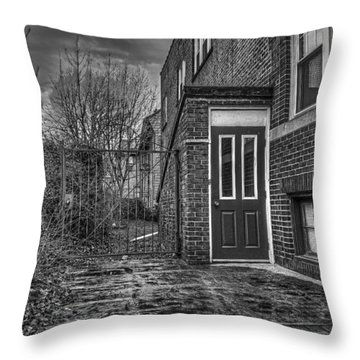 Creepy Gate Throw Pillow by Tim Buisman