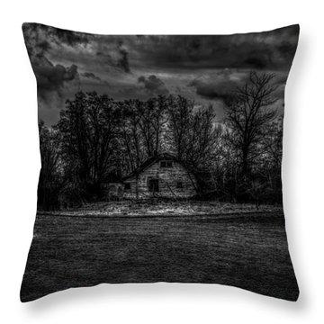 Creepy House Two Throw Pillow by Derek Haller