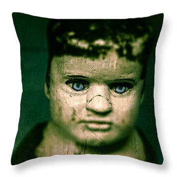 Creepy Zombie Child Throw Pillow