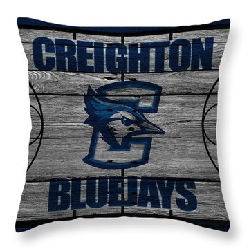 Creighton Bluejays Throw Pillow by Joe Hamilton