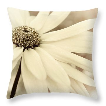 Creme Fraiche Throw Pillow