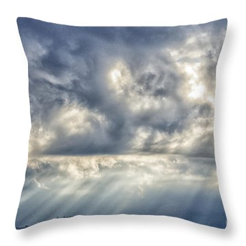Crepuscular Rays Throw Pillow by Thomas R Fletcher