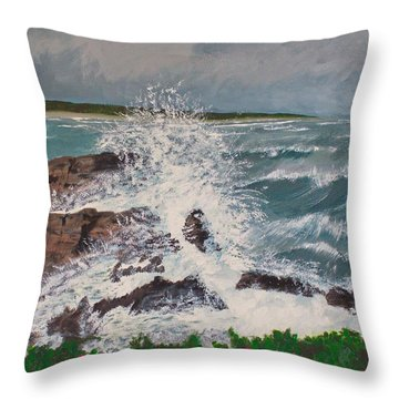 Crescendo Throw Pillow by Cynthia Morgan