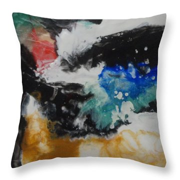 Throw Pillow featuring the painting Crescendo by Elaine Elliott