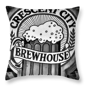 Crescent City Brewhouse - Bw Throw Pillow by Kathleen K Parker