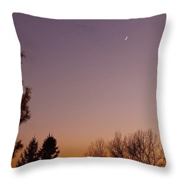Crescent  Throw Pillow