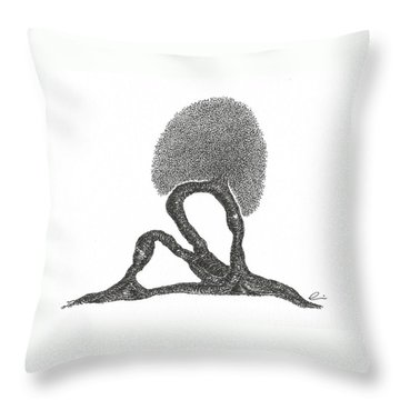 Crescent Lunge Throw Pillow