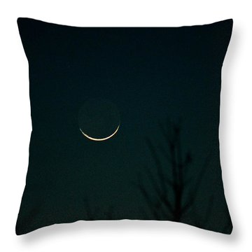 Crescent Moon Throw Pillow by Jessica Brown