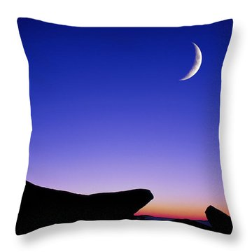 Throw Pillow featuring the photograph Crescent Moon Halibut Pt. by Michael Hubley