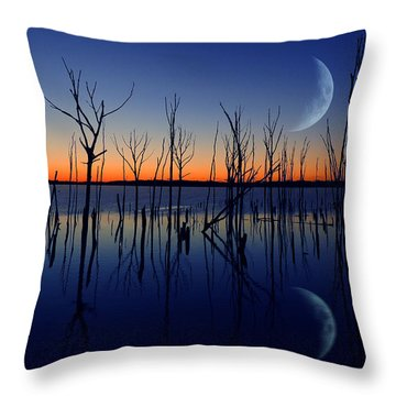 The Crescent Moon Throw Pillow by Raymond Salani III