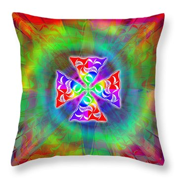 Throw Pillow featuring the drawing Crescent Pyramids by Derek Gedney
