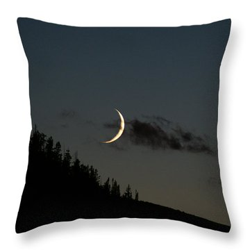 Throw Pillow featuring the photograph Crescent Silhouette by Jeremy Rhoades