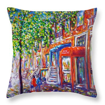 Crescent Street - Montreal Throw Pillow