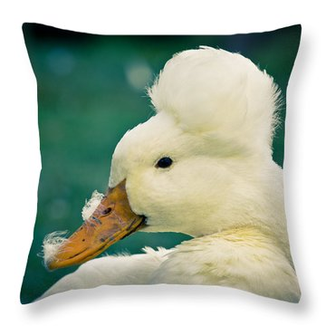 Crested Duck Throw Pillow
