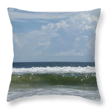 Cresting Wave Throw Pillow by Ellen Meakin