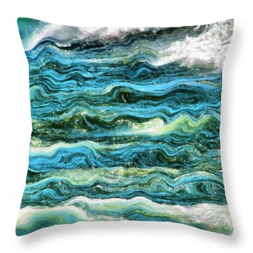Cresting Waves Part 1 Throw Pillow