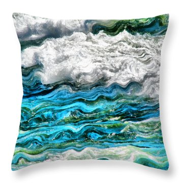 Cresting Waves Part 2 Throw Pillow