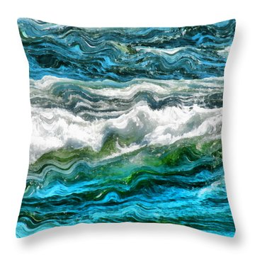 Cresting Waves Part 3 Throw Pillow