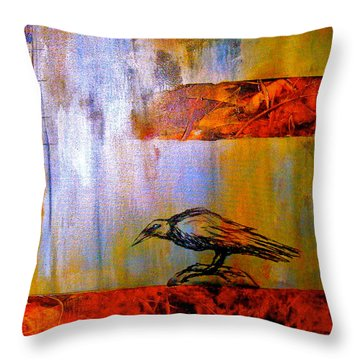 Cria Cuervos Throw Pillow by Thelma Zambrano