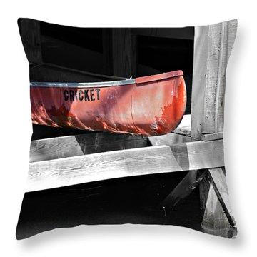 Cricket Throw Pillow by Susan Leggett
