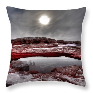 Throw Pillow featuring the photograph Crimson Arch by David Andersen