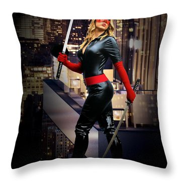 Crimson Avenger The Penthouse Watch Throw Pillow