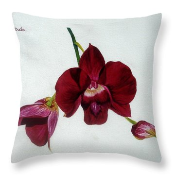 Crimson Beauty Throw Pillow