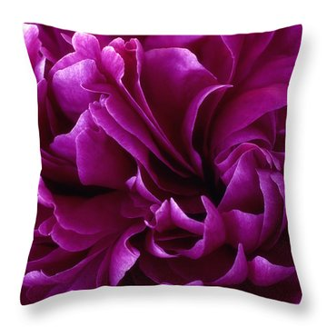 Crimson Chiffon Throw Pillow