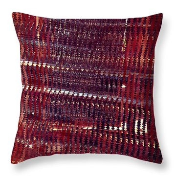 Crimson Hallway Throw Pillow by Matt Lindley