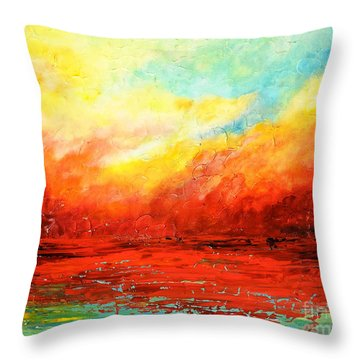 Crimson No.2 Throw Pillow by Teresa Wegrzyn
