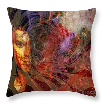 Crimson Requiem - Square Version Throw Pillow