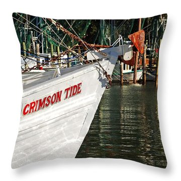 Crimson Tide Bow Throw Pillow by Michael Thomas