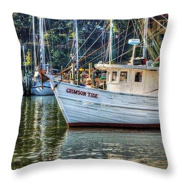 Crimson Tide In The Sunshine Throw Pillow