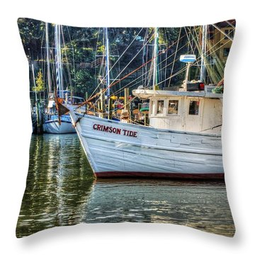 Crimson Tide In The Sunshine Throw Pillow