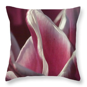 Throw Pillow featuring the photograph crimson Tulip by Rudi Prott