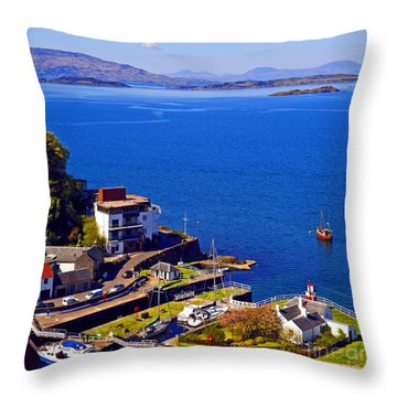 Crinan Harbour Scotland Throw Pillow by Craig B