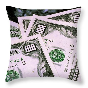 Crisp Benjamins Throw Pillow