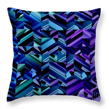 Criss Cross Blues Throw Pillow