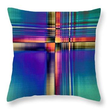 Crisscross 2 Throw Pillow by Tom Druin