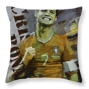 Cristiano Ronaldo Throw Pillow by Corporate Art Task Force