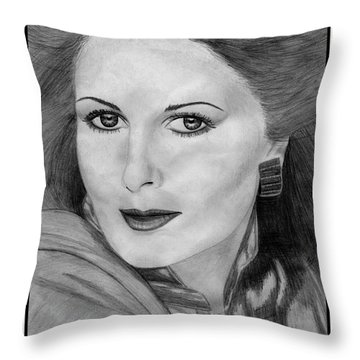 Cristina Ferrare In 1981 Throw Pillow by J McCombie