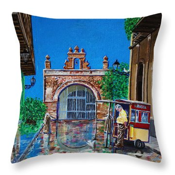 Capilla De Cristo - Old San Juan Throw Pillow