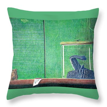 Throw Pillow featuring the painting Critical Mass Revisited by A  Robert Malcom