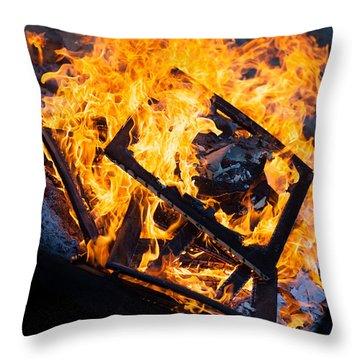 Critique Throw Pillow by Aaron Aldrich