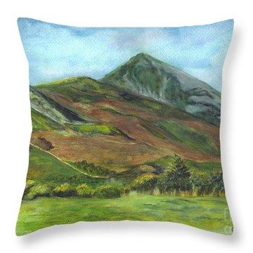 Croagh Saint Patricks Mountain In Ireland  Throw Pillow