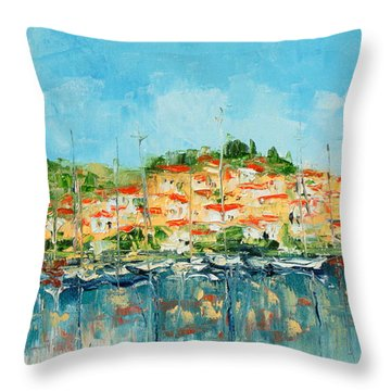 Croatia - Split Throw Pillow